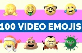 100个三维卡通表情动画素材