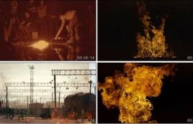 20多G真实火焰燃烧大火特效合成视频素材
