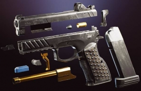 ue4商城资源 (5) FPS 4K Custom Modern Handguns – VOL.4 定制现代手枪