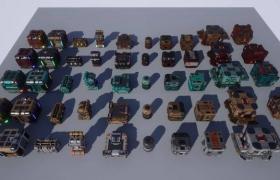 ue4商城资源SciFi Boxes B科幻盒子B