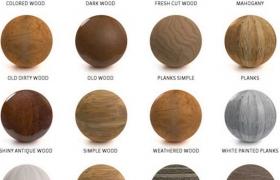 C4D纹理贴图材质球超实用室内设计预设素材包合集