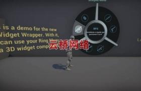 ue4商城资源Ring Menu Construction Kit戒指菜单构造套件