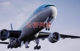 ue4商城资源 Commercial Long-Range Aircraft 商用远程飞机