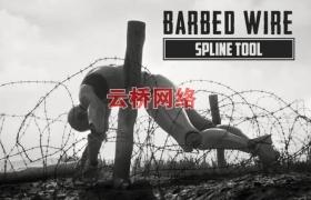 ue4商城资源Barbed Wire Spline Tool带刺钢丝样条工具
