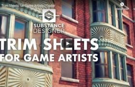 三维场景模型中纹理材质合理优化解决方案 FlippedNormals – Trim Sheets for Game Artists