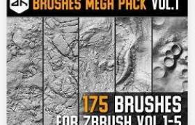 zbrush地面地形山脉等地表笔刷包