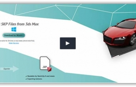 3dsmax to su模型转换器插件Simlab 3DSMAX SKP Exporter v9.0.2