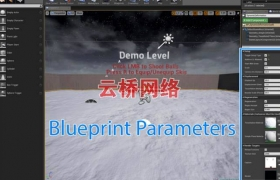 ue4商城资源Dynamic Plane Deformation Blueprint with Snow Demo雪景蓝图
