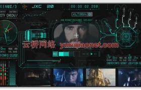 AE模板-700+HUD高科技科幻游戏军事显示屏动态UI元素