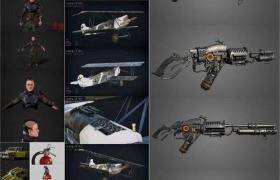 PBR Game and 3D-Scan 3D-Models Bundle November 2020