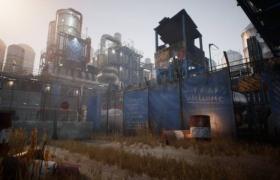 ue4商城资源Post-Apocalyptic Industrial Scene后世界末日工业场景