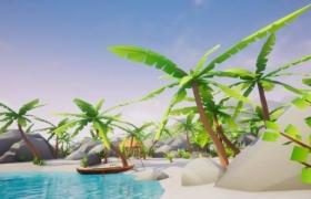 ue4商城资源Lowpoly Style Tropical Pack低多边形热带岛屿环境