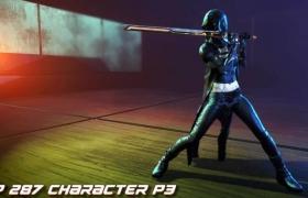 ue4商城资源LP287 Character P3女性战士角色模型