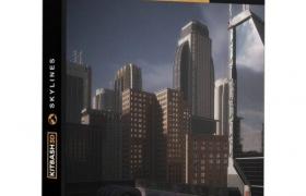 摩天大楼模型 Kitbash3D – Mini Kit Skylines