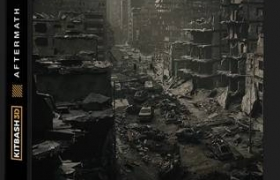 废墟楼房建筑3D模型 Kitbash3D – Aftermath