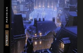 巴黎城市建筑场景模型 KitBash3D – Parisian