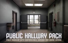 ue4商城资源Public Hallway Pack公共走廊包