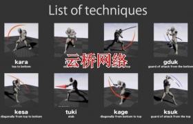 ue4商城资源Japanese sword action日本剑术