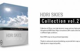 hdr天空环境贴图HDRI Skies – pack 21
