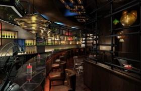 3dmax酒吧夜景商业渲染-马良渲染十一