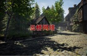ue4商城资源Medieval Town中世纪城镇场景