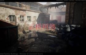 ue4商城资源[SCANS] Abandoned Factory Buildings – Day/Night Scene【扫描】废弃厂房-白天/夜晚场景