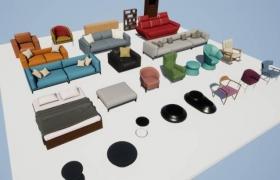 ue4商城素材Furniture Pack家具包